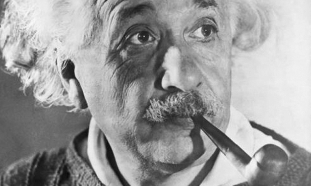 "Albert Einstein - ""I believe that pipe smoking contributes to a somewhat calm and objective judgment in all human affairs"""